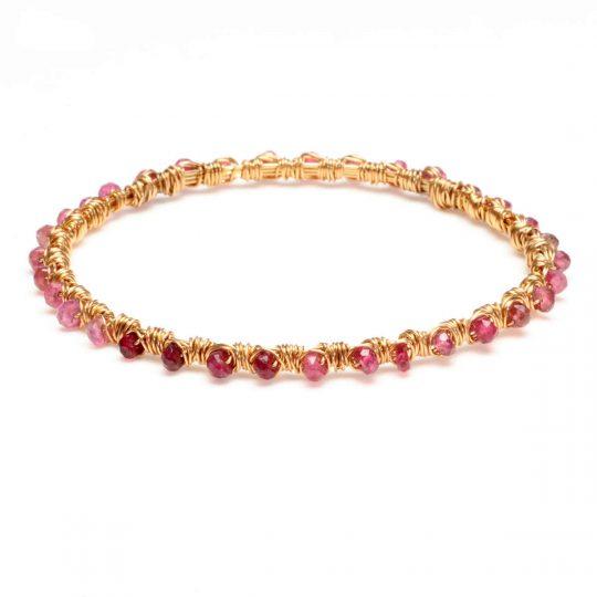 Pink Tourmaline Gold WW Bracelet B1G