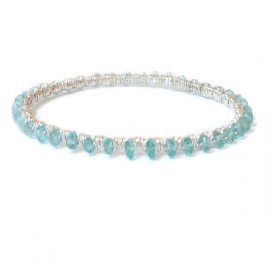 Apatite Silver WW Bracelet B1S