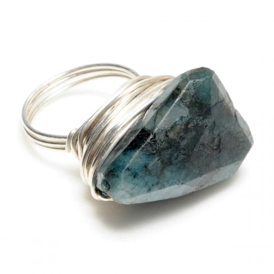 Large Blue Kyanite and Silver Ring R2S