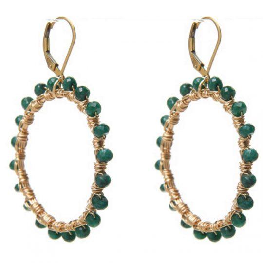 Emerald Gold WW Earrings E1G
