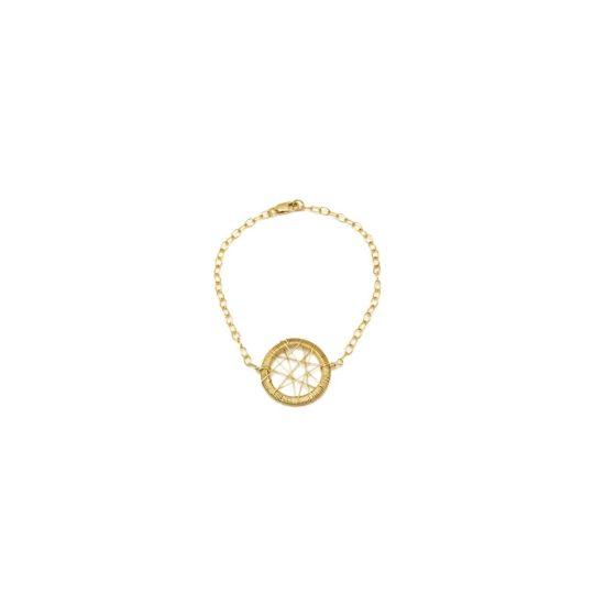 gold dream catcher star handmade bracelet